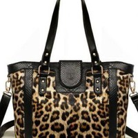 Sexy Leopard Print Leather Bag