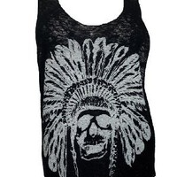 Amazon.com: eVogues Plus Size Skull Print Knit Tank Top White: Clothing