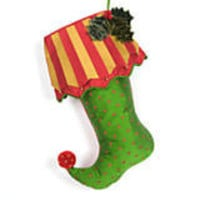 MacKenzie-Childs - Silk Stocking - Holly & Berries