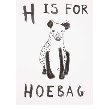 H For Hoebag Greetings Card - New In This Week - New In - Topshop