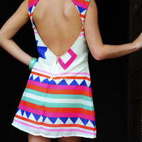 Oh My Mayan Tank Dress: Multi | Hope's