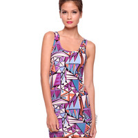 Bow Back Geo Dress | FOREVER21 - 2081258026