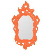 One Kings Lane - Mirror Image - Baroque  Mirror, Tangerine Lacquer