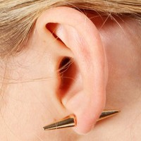 Gold Double Dagger Earrings