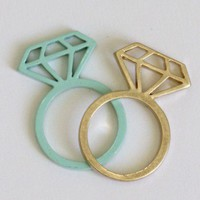 Diamond Ring-Ice Blue
