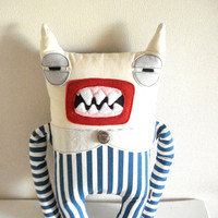Monster Striped Furious by cronopia6 on Etsy