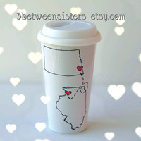 Long Distance Friendship Travel Mug