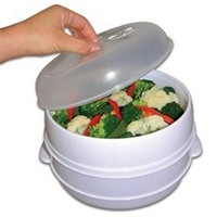 2 Tier Microwave Steamer - College dorm cooking supplies dorm cooking accessory cool college products dorm room stuff dorm item