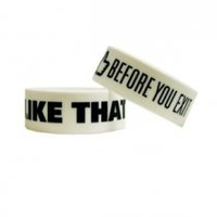Before You Exit I Like That Wristbands (White)