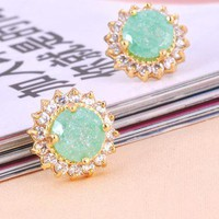 [grlhx130043]Shiny Rhinestone earrings
