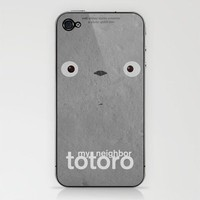 My neighbor Totoro iPhone & iPod Skin by Fabio Castro | Society6