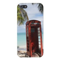 Red public Telephone Booth on Antigua iPhone 5 Case from Zazzle.com