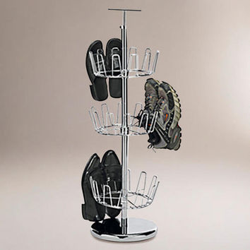 Chrome Revolving Shoe Tree | World Market