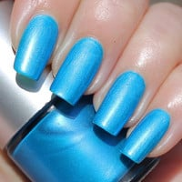 Altantic Ocean Franken Nail Polish - Brigt blue color