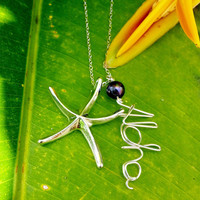 Aloha Wire Tiffanys Metal Starfish Sterling Silver Necklace