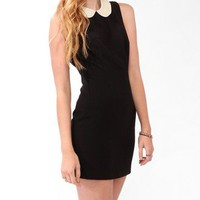 Pearlescent Collar Sheath Dress