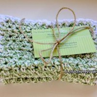 Eco Friendly Cotton #Crochet Wash Cloths Dish Cloths #Scrubbies Washcloths #handmade by MoomettesCrochet