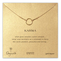 Dogeared 'Karma' Reminder Pendant Necklace