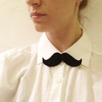 $6.00 MUSTACHE AS BOWTIE also for faces and hair by EricasNeuMann