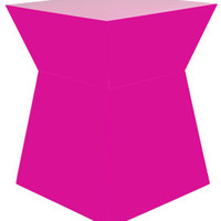 gus*modern pawn end table/stool in fuschia - ABC Carpet & Home
