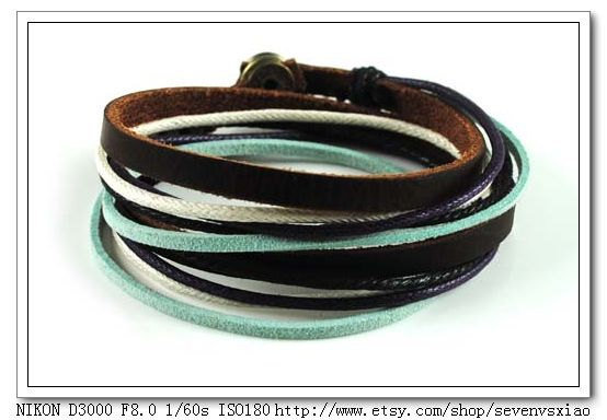 Multicolour Rope Leather