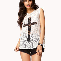 Cross Lace Muscle Tee