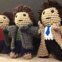 Supernatural's Team Free Will - Dean Winchester, Sam Winchester, and Castiel - inspired by Jensen Ackles, Jared Padalecki, and Misha Collins