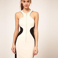 ASOS Body-Conscious Dress with Zip Front on LoLoBu