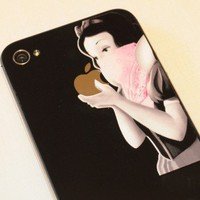 Mini Pink Gangsta decal for iPhones - glossy vinyl sticker | stickerman - Techcraft on ArtFire
