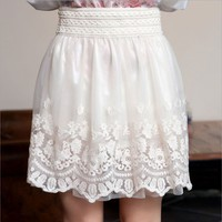 Net yarn double skirts