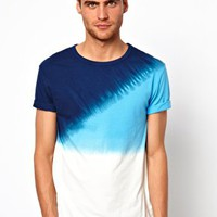 River Island Dip Dye T-Shirt at asos.com