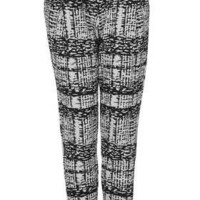 Petite Mono Grid Trousers - New In This Week  - New In