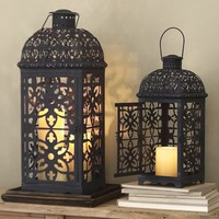 Mallory Pierced Lantern | Pottery Barn