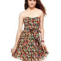 American Rag Dress, Strapless Belted Fruit Print Sweetheart A-Line - Juniors SALE & CLEARANCE - Macy's
