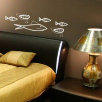 ADZif Mini Fish Wall Decal - M7001B - All Wall Art - Wall Art & Coverings - Decor