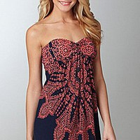 Moa Moa Printed Strapless Dress | Dillards.com