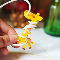 CableToBuy Giraffe Headset Cords Tangle Free Cord Manager Best Gift For Kids 100 PCS