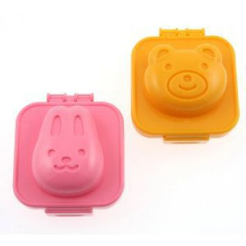 Kotobuki Plastic Egg Mold, Rabbit and Bear