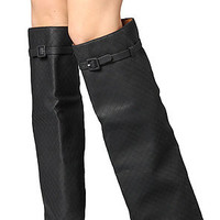 Jeffrey Campbell The Die Hard Boot in Black Quilt