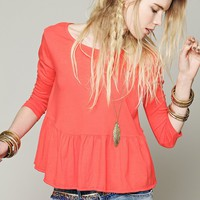 Free People We The Free Solid Peplum Tee