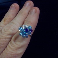 Two Tone Blue Galaxy Ring