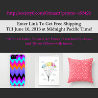 FREE SHIPPING in my Ornaart shop - till June 16, 2013 by Ornaart | Society6
