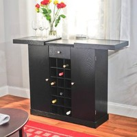 Amazon.com: TMS Wine Storage Cabinet, Black: Home & Kitchen