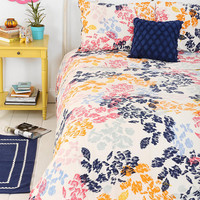 Plum & Bow Sketch Floral Duvet Cover