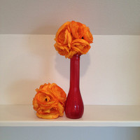 Orange Wedding centerpiece table decoration by babybaharcollection