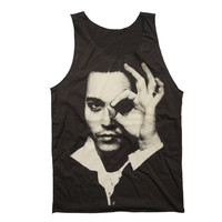 Johnny Depp Tank Top American Actor Artist Rock Musician Sexy Model Shirt Size M