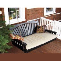 Outdoor 5' Fanback Swing Bed - Oversized Porch Swing - PAINTED- Amish Made USA -White