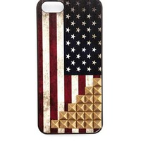 Studded American Flag Phone Case: Charlotte Russe