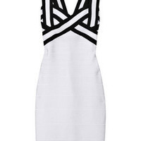 Hervé Léger Contrast bandage dress – 55% at THE OUTNET.COM