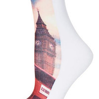 Multi London Scape Ankle Socks